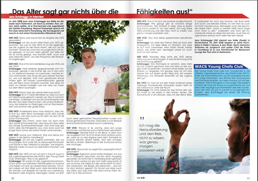 """Titelstory """"Jens Schönegge"""" Der Vkö"""