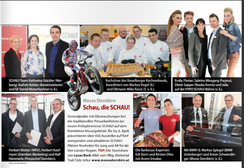 Bericht Schau – Messe Dornbirn im Weekend