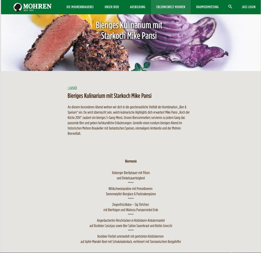 Mohren Bier Kulinarium 2015